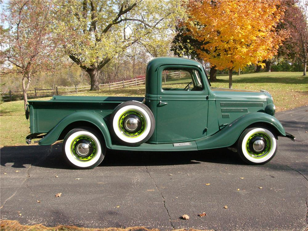 1937 FORD PICKUP - Side Profile - 162600