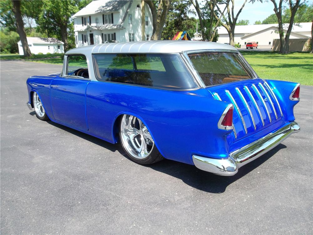 1955 CHEVROLET NOMAD CUSTOM WAGON - Rear 3/4 - 162604