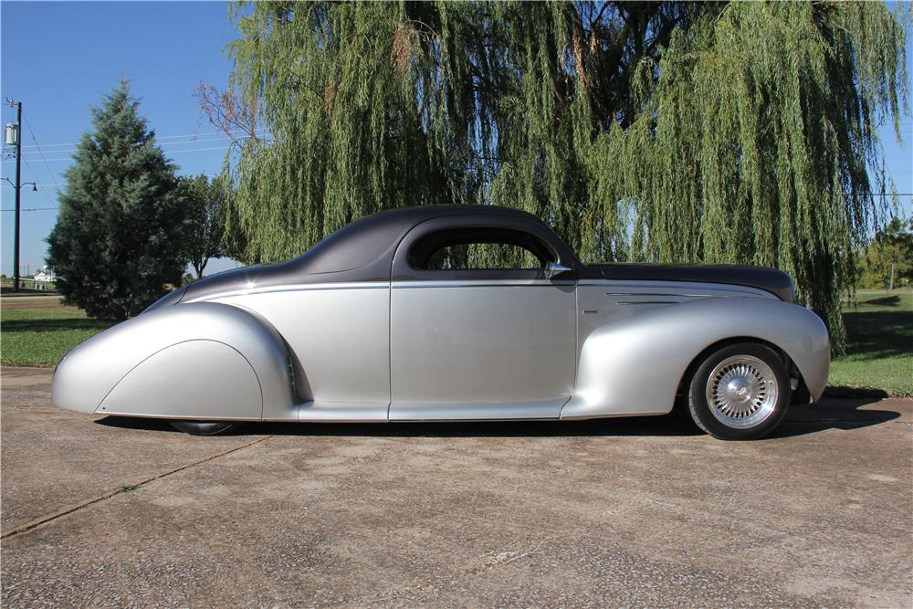 1939 LINCOLN ZEPHYR CUSTOM 2 DOOR COUPE - Side Profile - 162607