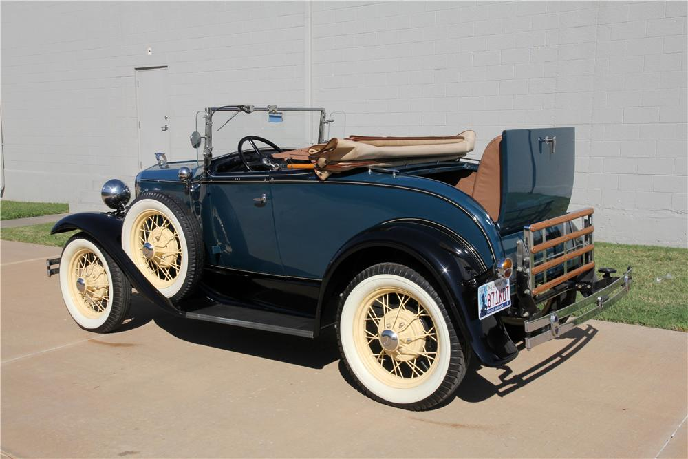 1931 FORD MODEL A ROADSTER - Rear 3/4 - 162622