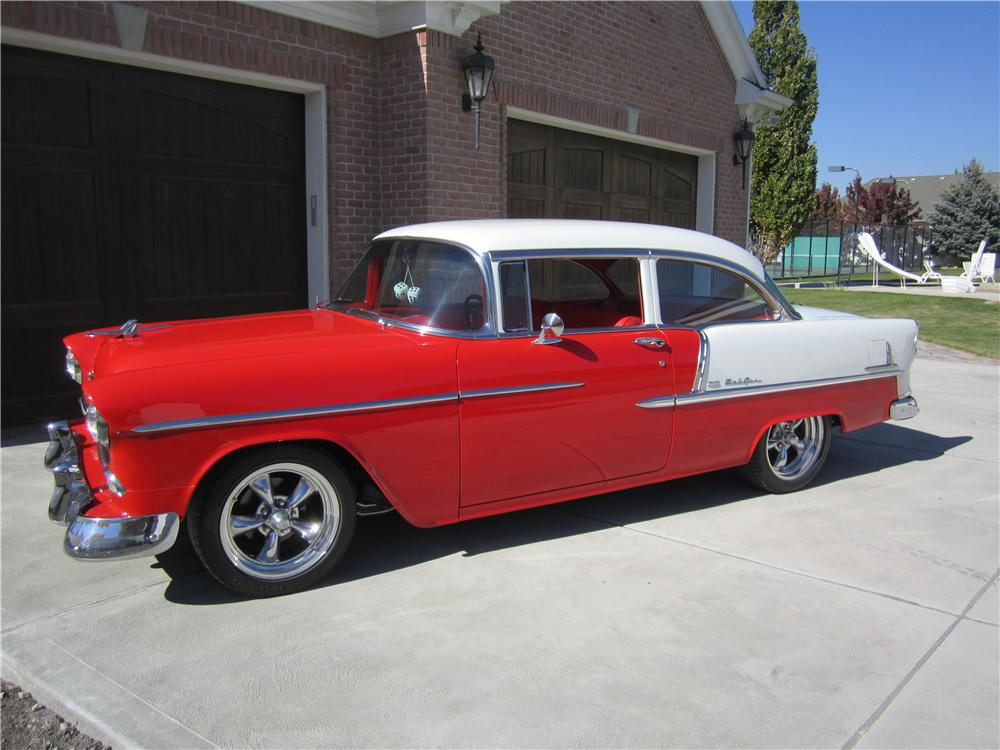 1955 CHEVROLET BEL AIR CUSTOM 2 DOOR SEDAN - Front 3/4 - 162660