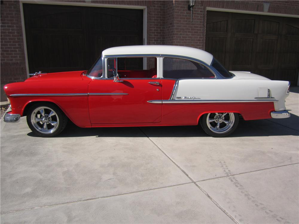 1955 CHEVROLET BEL AIR CUSTOM 2 DOOR SEDAN - Side Profile - 162660