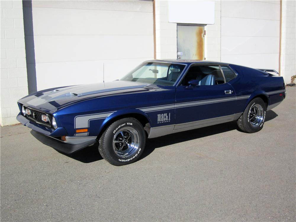 1971 ford mustang mach 1 fastback front 3 4 162662. Cars Review. Best American Auto & Cars Review