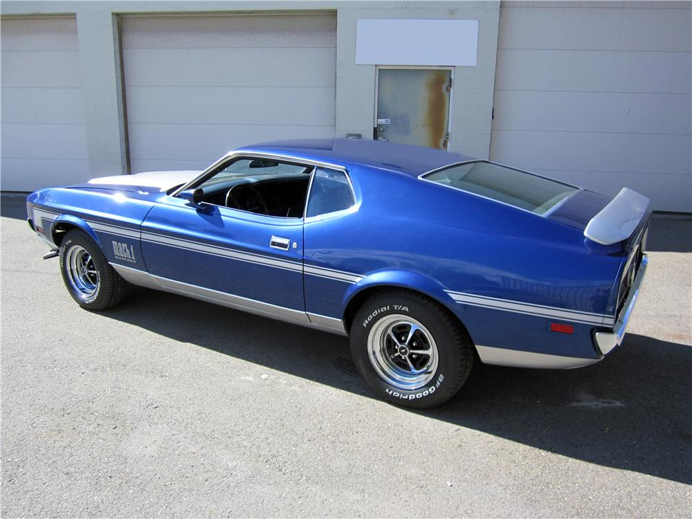 1971 FORD MUSTANG MACH 1 FASTBACK - Rear 3/4 - 162662