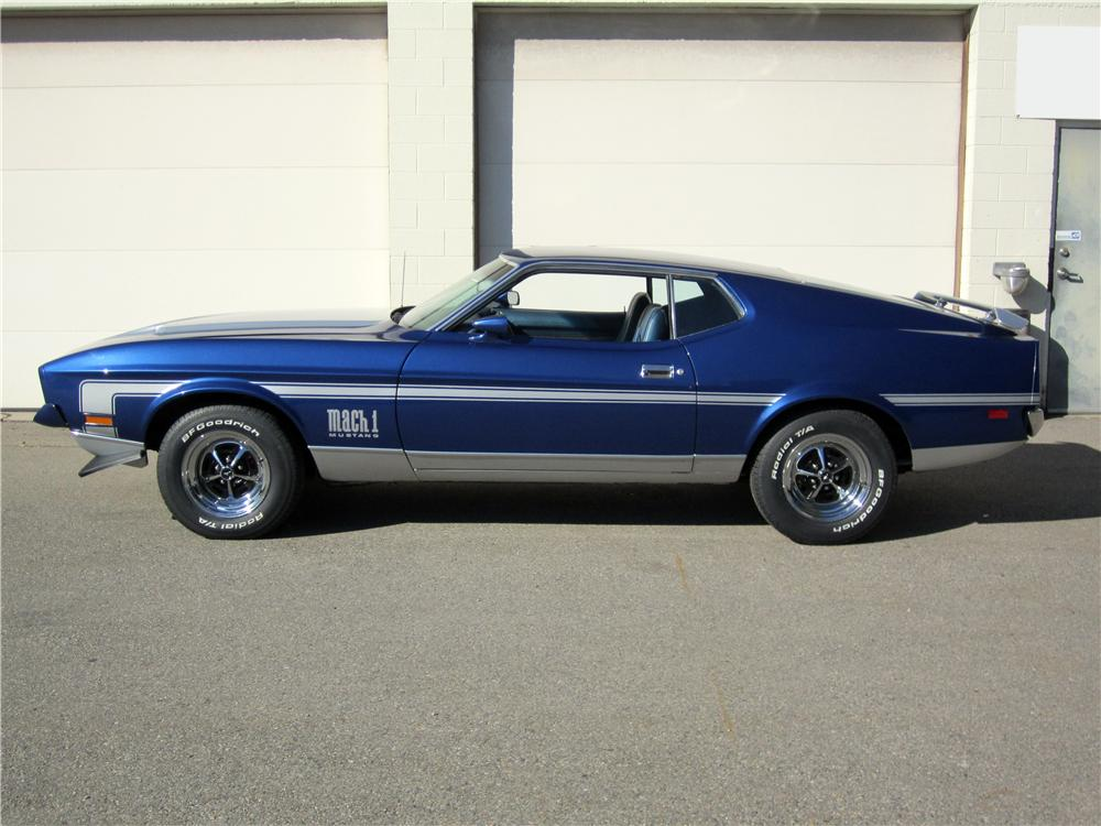 1971 FORD MUSTANG MACH 1 FASTBACK - Side Profile - 162662