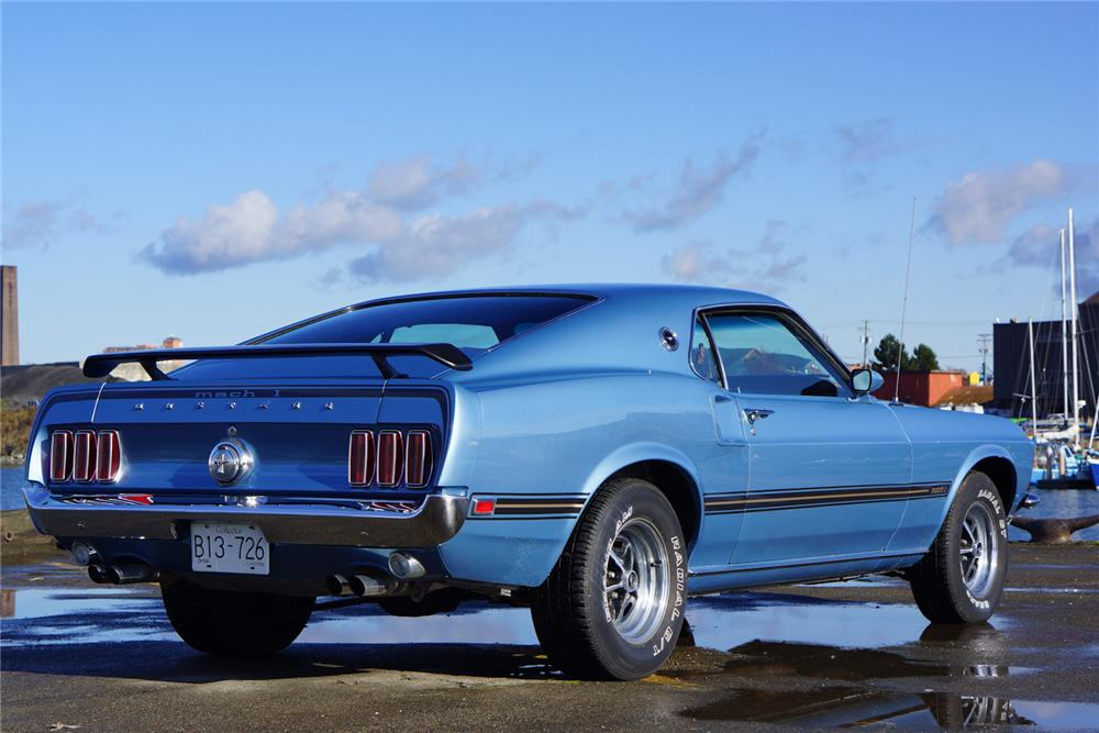 1969 FORD MUSTANG MACH 1 428 CJ FASTBACK - Rear 3/4 - 162685