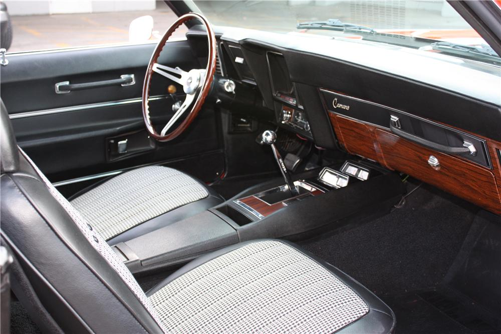 1969 CHEVROLET CAMARO Z/28 2 DOOR COUPE - Interior - 162692