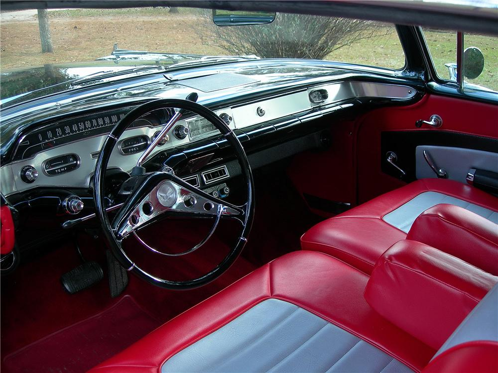 Interior: 1958 CHEVROLET IMPALA CUSTOM 2 DOOR HARDTOP