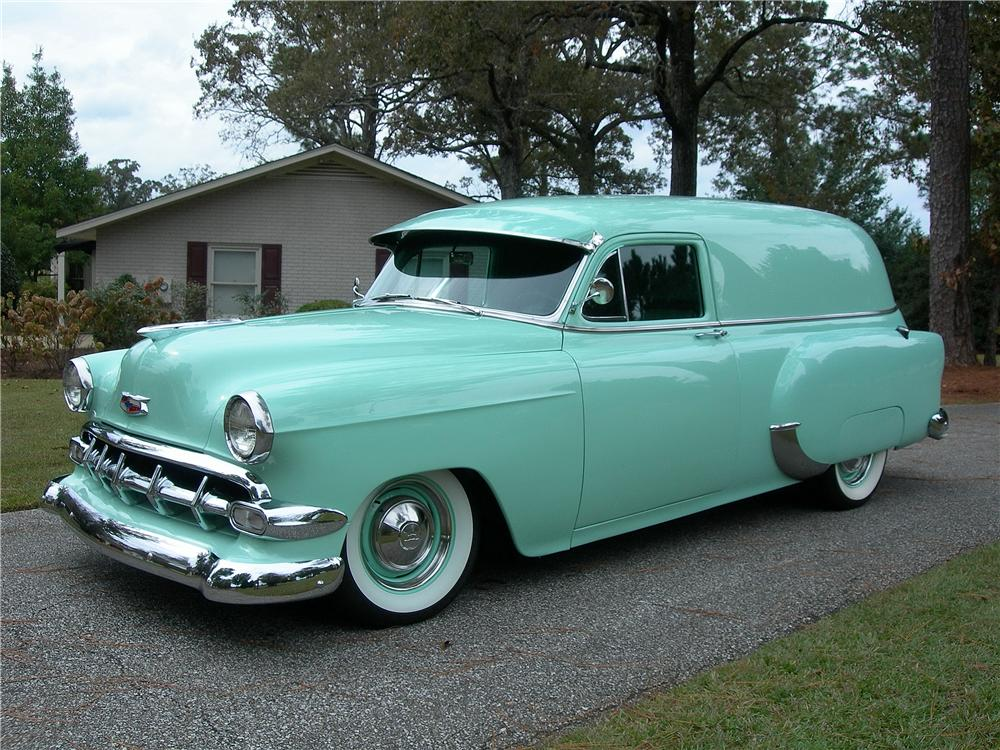 1954 CHEVROLET CUSTOM SEDAN DELIVERY - Front 3/4 - 162715