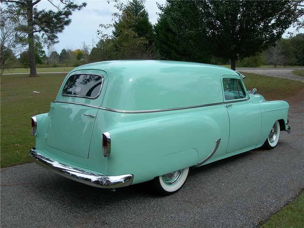 1954 CHEVROLET CUSTOM SEDAN DELIVERY - Rear 3/4 - 162715