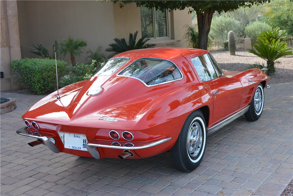 1963 CHEVROLET CORVETTE 2 DOOR COUPE - Rear 3/4 - 162734