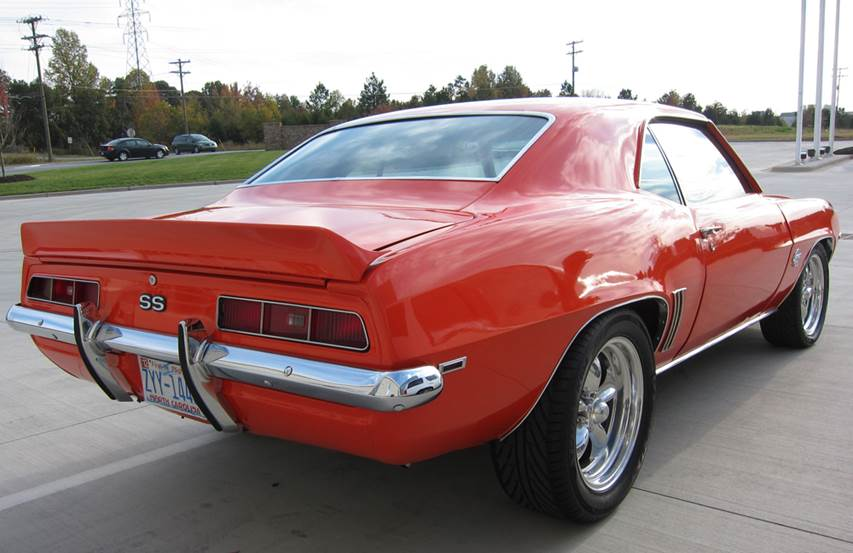 1969 CHEVROLET CAMARO SS COUPE - Rear 3/4 - 162747