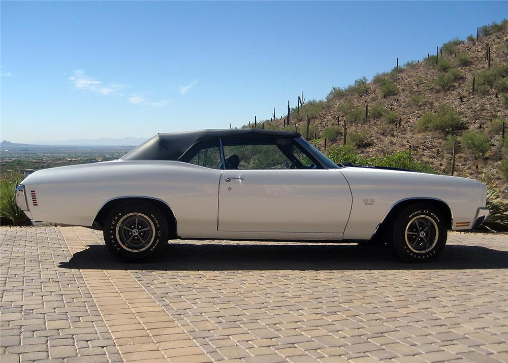 1970 CHEVROLET CHEVELLE MALIBU CONVERTIBLE - Side Profile - 162754