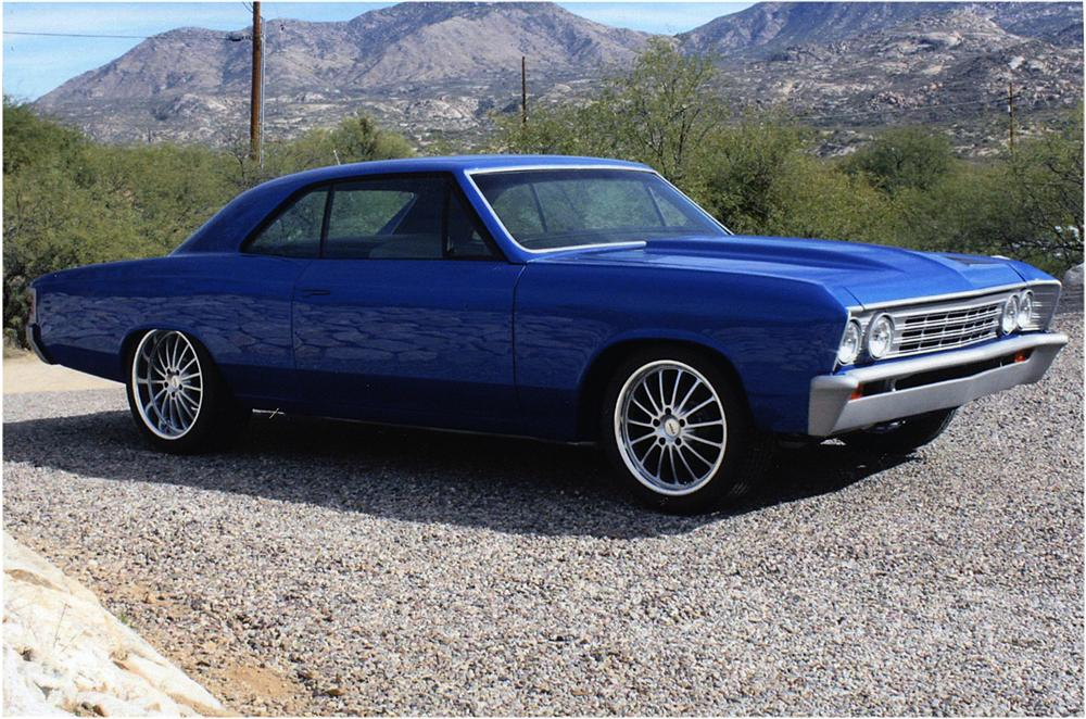 1967 CHEVROLET CHEVELLE CUSTOM 2 DOOR HARDTOP - Side Profile - 162756