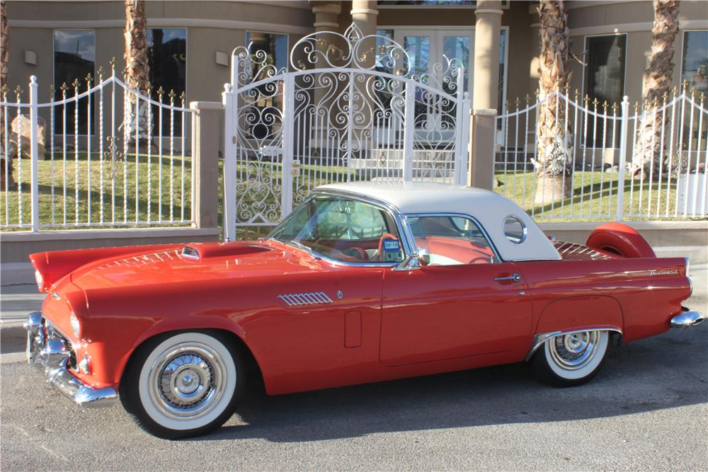 1956 FORD THUNDERBIRD CONVERTIBLE - Side Profile - 162841