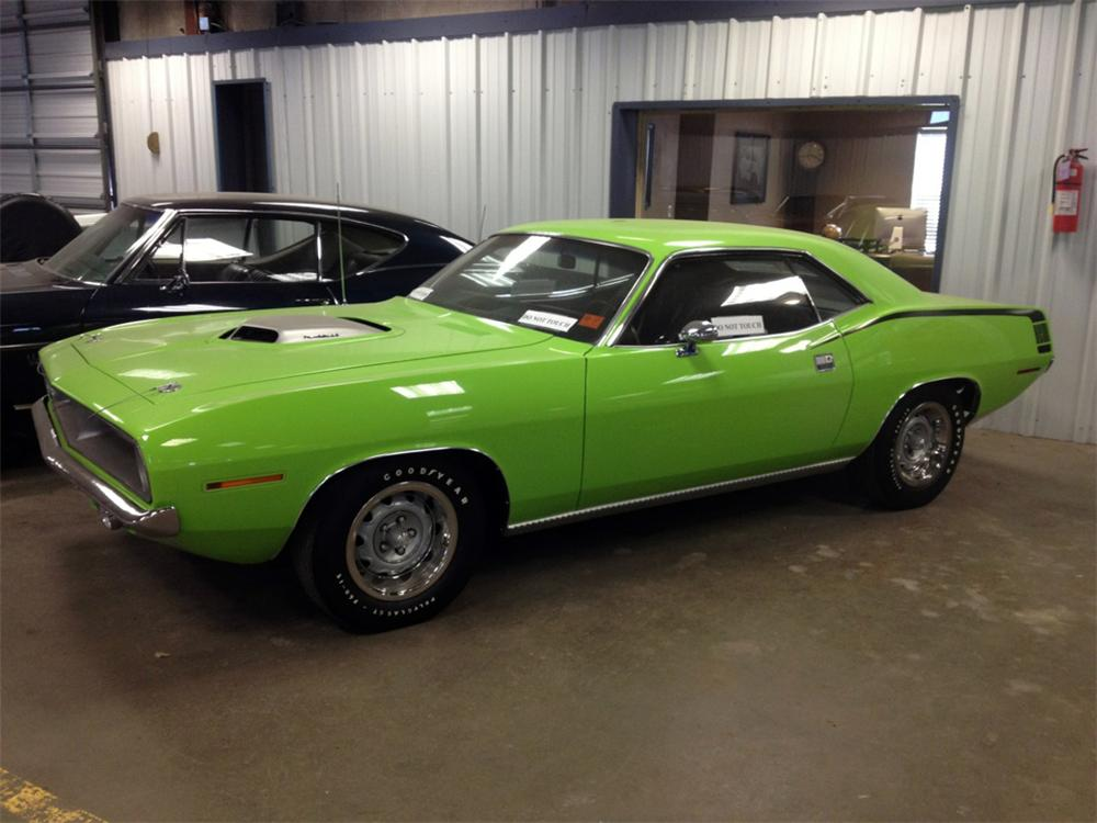 1970 PLYMOUTH HEMI CUDA 2 DOOR COUPE - Side Profile - 162869
