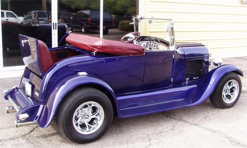 1929 FORD MODEL A ROADSTER - Rear 3/4 - 16290