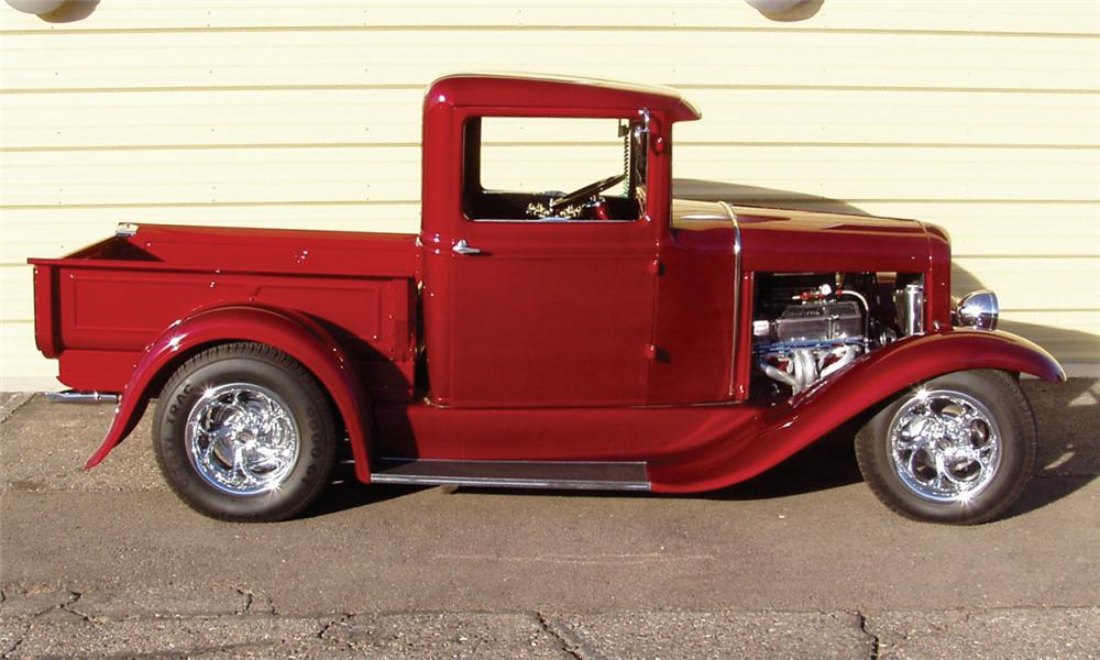 1930 FORD MODEL A CUSTOM PICKUP - Front 3/4 - 16291