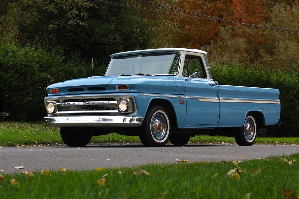 1966 CHEVROLET C-10 PICKUP - Front 3/4 - 162916