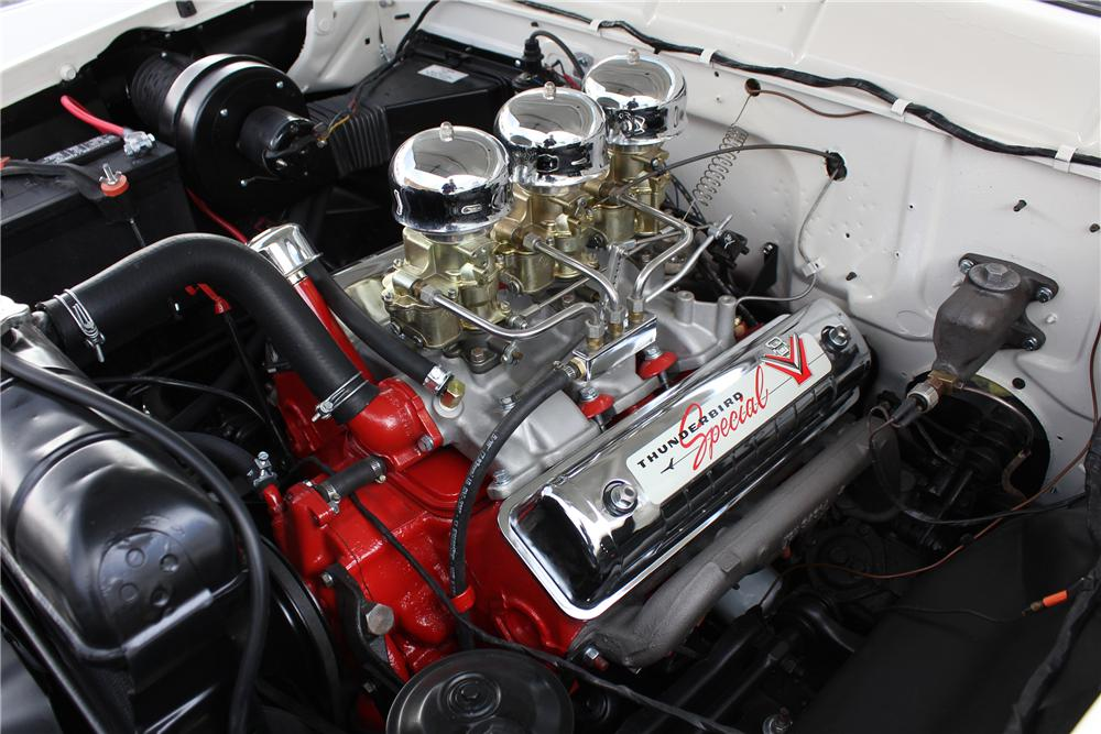 1956 FORD FAIRLANE CROWN VICTORIA 2 DOOR COUPE - Engine - 162971