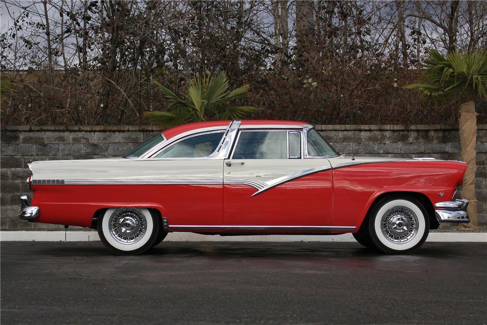 1956 ford fairlane crown victoria 2 door coupe side profile 162971. Cars Review. Best American Auto & Cars Review