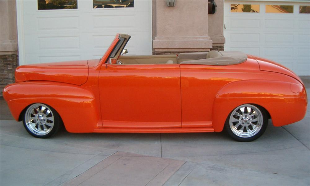 1941 FORD HOT ROD CONVERTIBLE - Side Profile - 16302