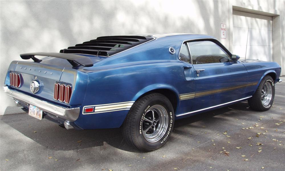 1969 FORD MUSTANG MACH 1 FASTBACK - Rear 3/4 - 16303