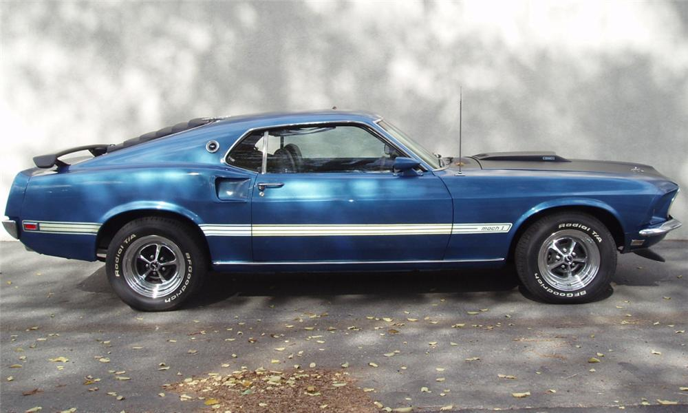 1969 FORD MUSTANG MACH 1 FASTBACK - Side Profile - 16303