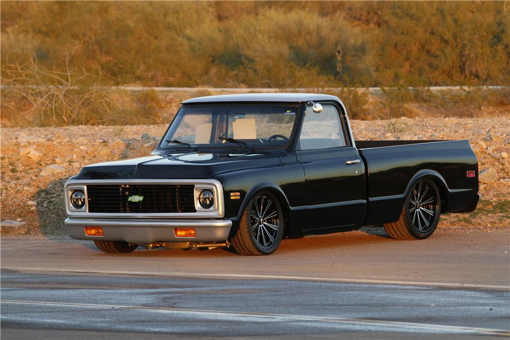 1971 CHEVROLET C-10 CUSTOM PICKUP - Front 3/4 - 163044