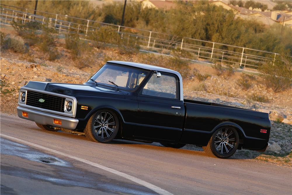 1971 CHEVROLET C-10 CUSTOM PICKUP - Side Profile - 163044