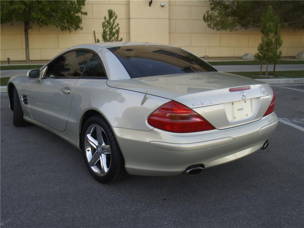 2003 MERCEDES-BENZ SL500 ROADSTER - Rear 3/4 - 163077