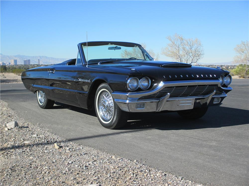 1964 FORD THUNDERBIRD CONVERTIBLE - Front 3/4 - 163079