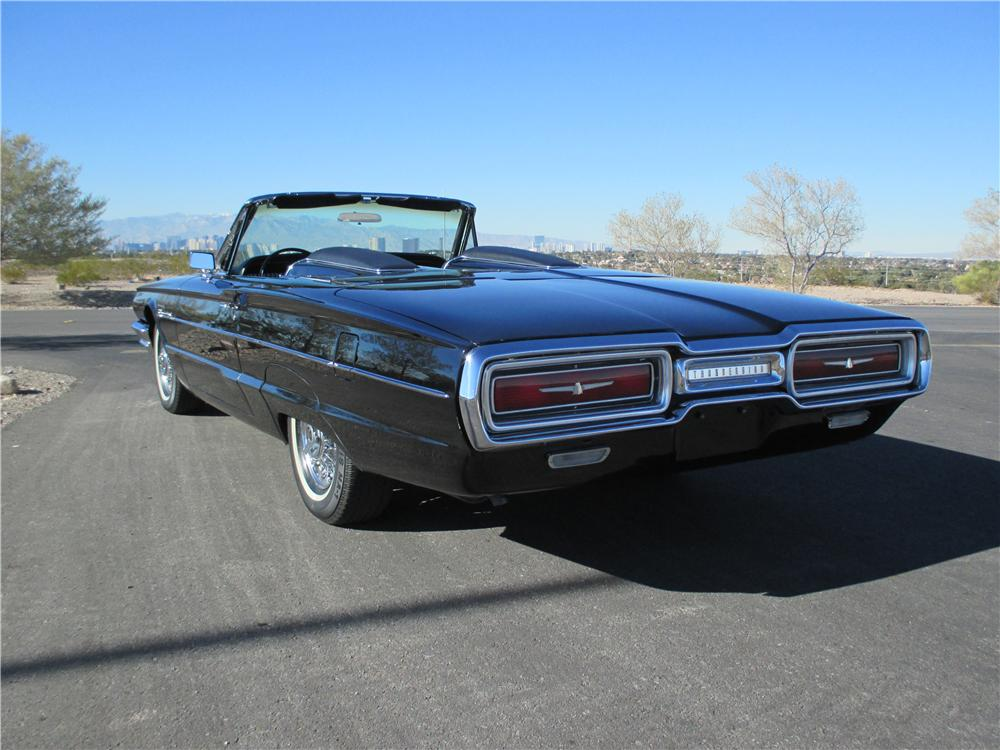 1964 FORD THUNDERBIRD CONVERTIBLE - Rear 3/4 - 163079