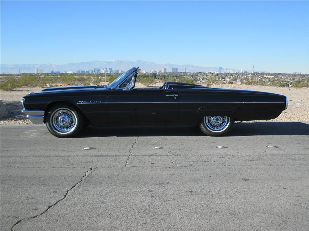 1964 FORD THUNDERBIRD CONVERTIBLE - Side Profile - 163079