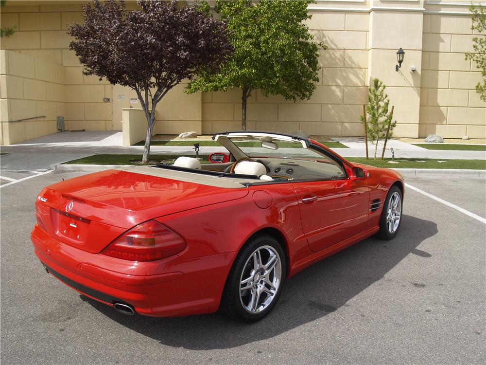 2003 MERCEDES-BENZ SL500 CONVERTIBLE - Rear 3/4 - 163083