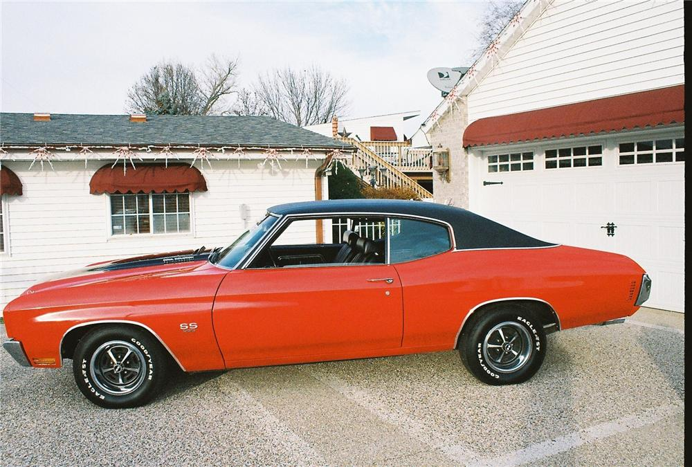1970 CHEVROLET CHEVELLE MALIBU SS 2 DOOR - Side Profile - 163096
