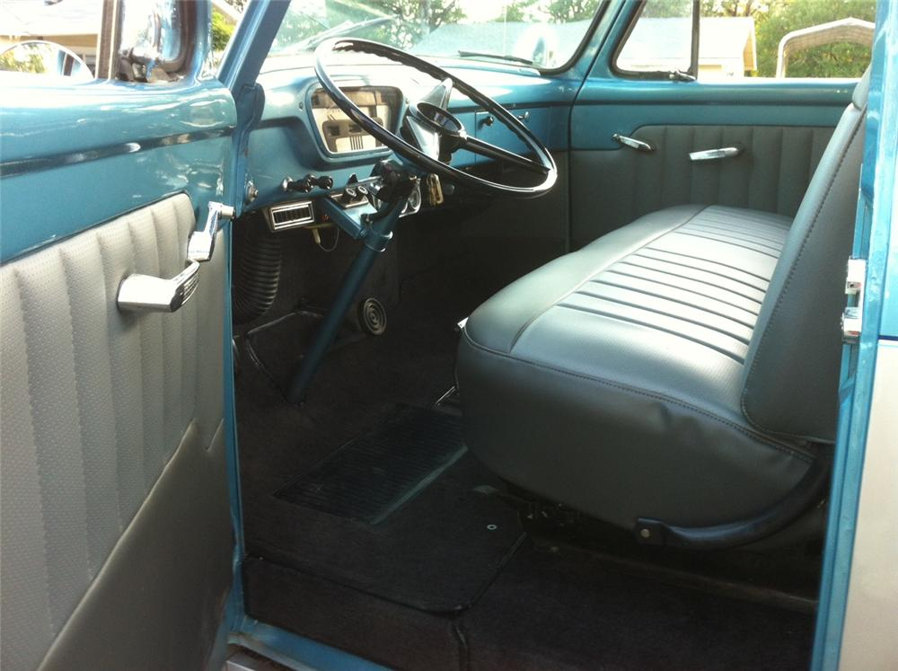 1955 FORD F-100 CUSTOM PICKUP - Interior - 163124