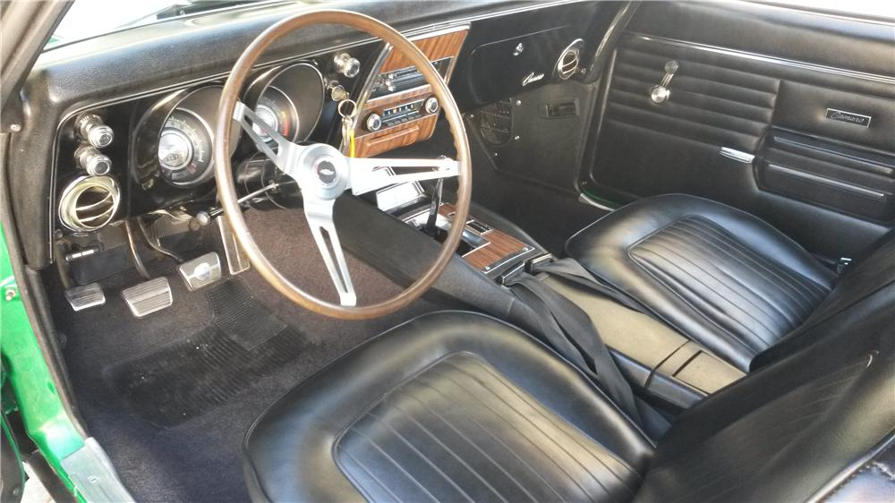1968 CHEVROLET CAMARO Z/28 RS COUPE - Interior - 163135