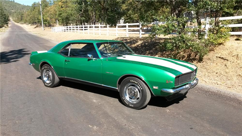 1968 CHEVROLET CAMARO Z/28 RS COUPE - Side Profile - 163135