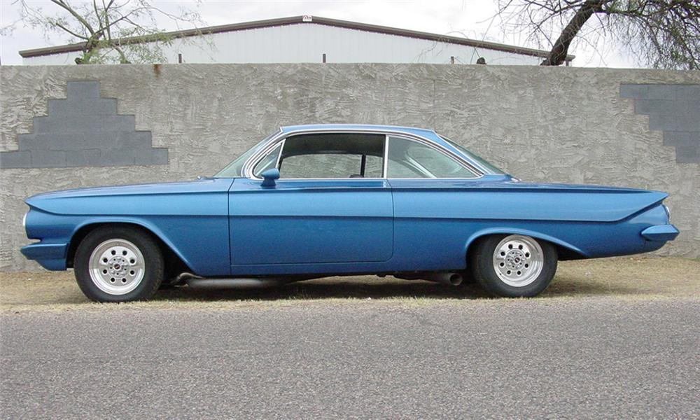1961 CHEVROLET IMPALA BUBBLE TOP - Side Profile - 16314
