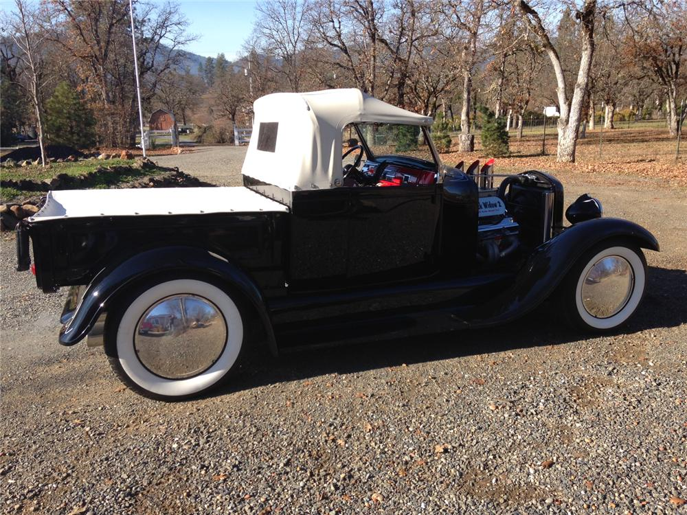 1928 FORD CUSTOM PICKUP - Side Profile - 163141
