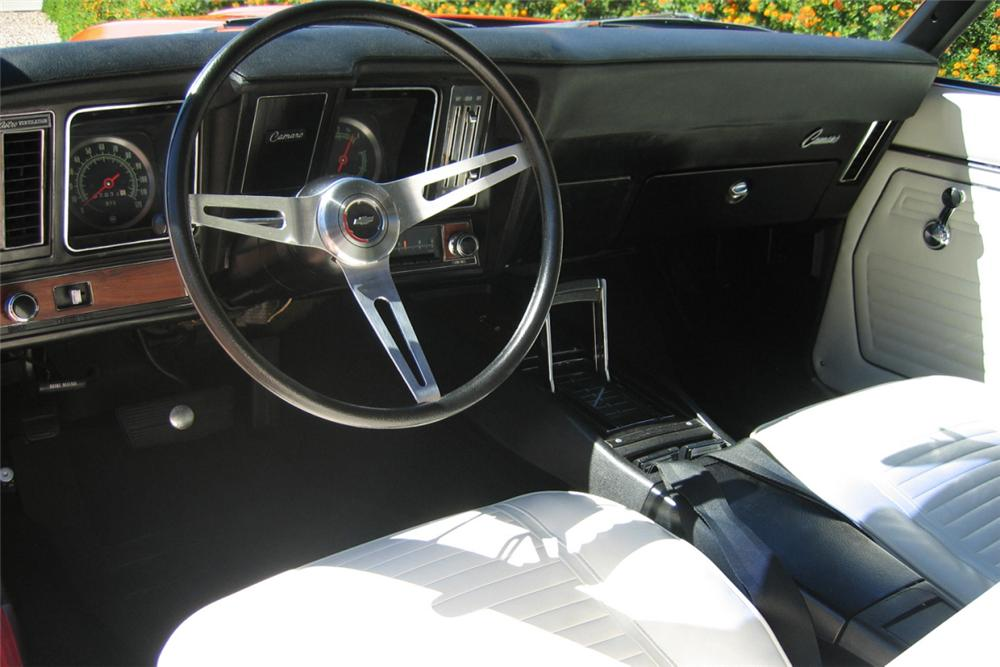 1969 CHEVROLET CAMARO SS 396 COUPE - Interior - 16321