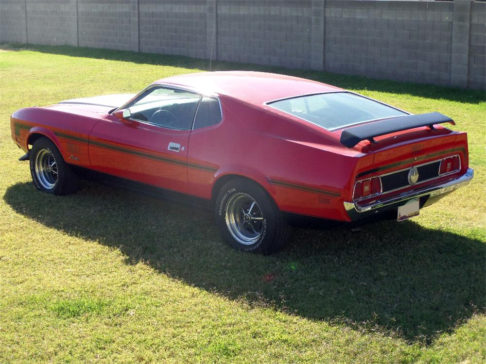 1973 FORD MUSTANG MACH 1 FASTBACK - Rear 3/4 - 163251