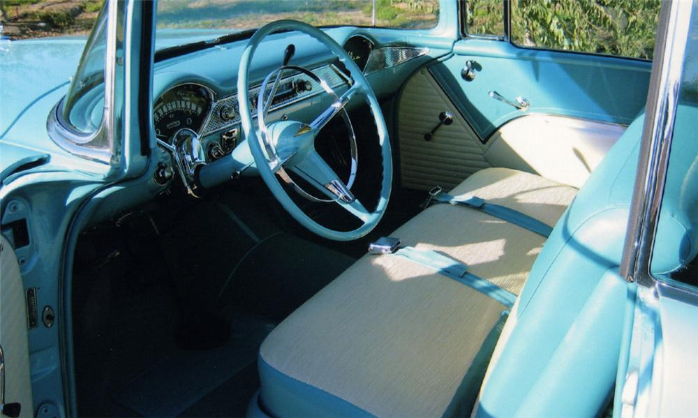 1955 CHEVROLET BEL AIR 2 DOOR HARDTOP - Interior - 16331