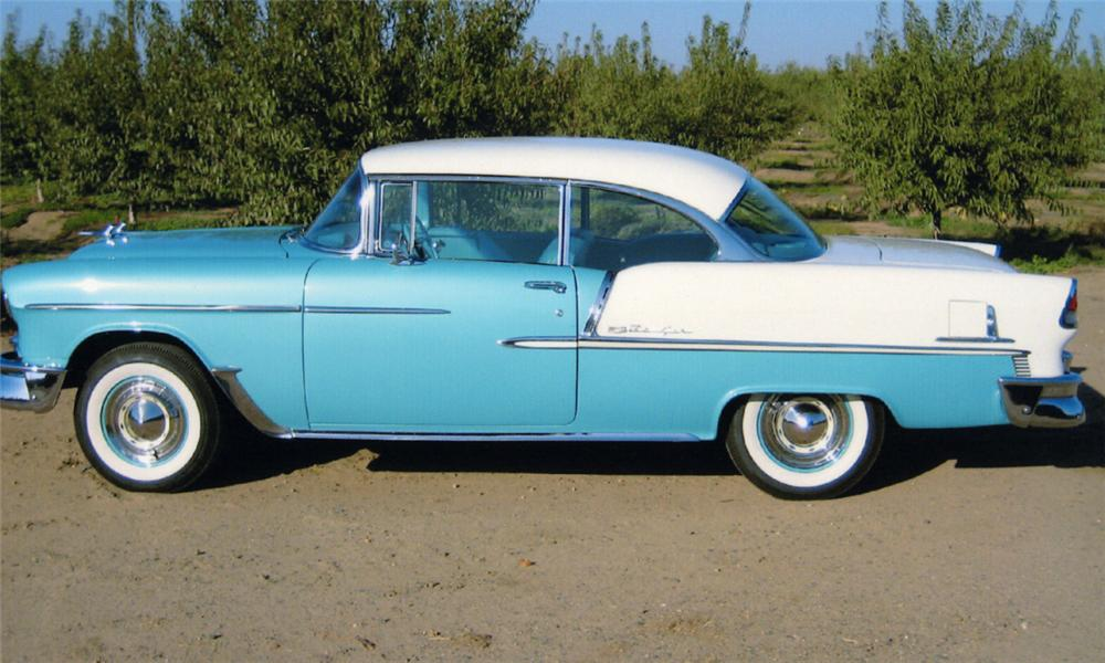 1955 CHEVROLET BEL AIR 2 DOOR HARDTOP - Side Profile - 16331