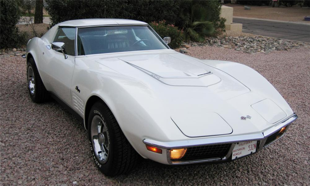 1971 CHEVROLET CORVETTE COUPE - Front 3/4 - 16337