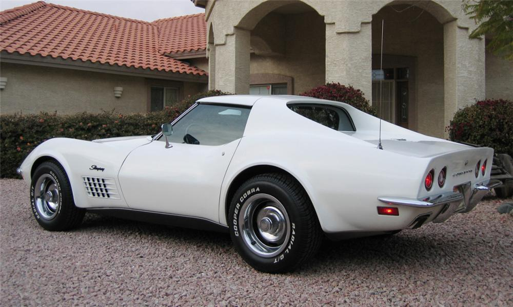 1971 CHEVROLET CORVETTE COUPE - Rear 3/4 - 16337