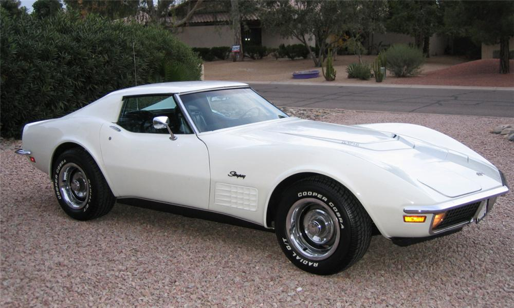 1971 CHEVROLET CORVETTE COUPE - Side Profile - 16337