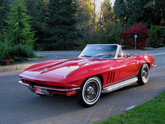 1965 CHEVROLET CORVETTE CONVERTIBLE - Front 3/4 - 163397