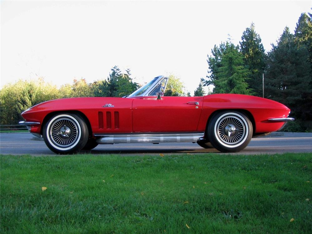 1965 CHEVROLET CORVETTE CONVERTIBLE - Side Profile - 163397